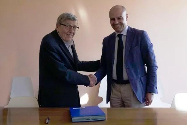 Il presidente di Link Campus University Enzo Scotti e il presidente di Italian Digital Revolution Mauro Nicastri concordano la nascita del Dites.