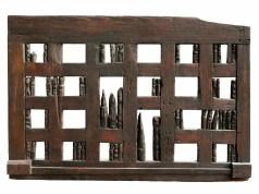 Franca Ghitti,_Vicinia. La tavola degli antenati n. 1, legno del 1976 di cm 108x160x6 (ph. Fabio Cattabiani).