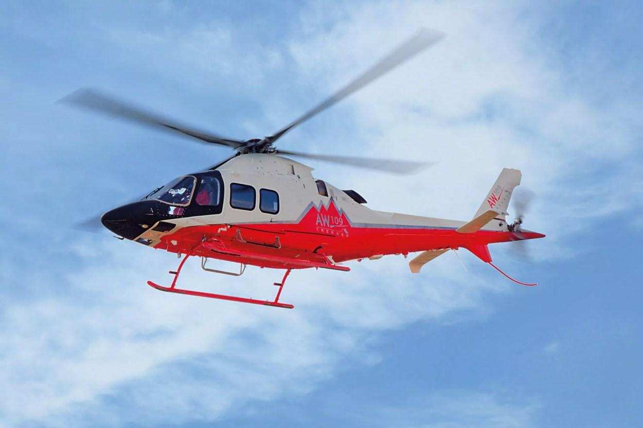 Un elicottero Leonardo Aw 109-Trekker.