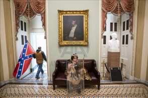 washington capitol hill bandiera sudista foto anadolu