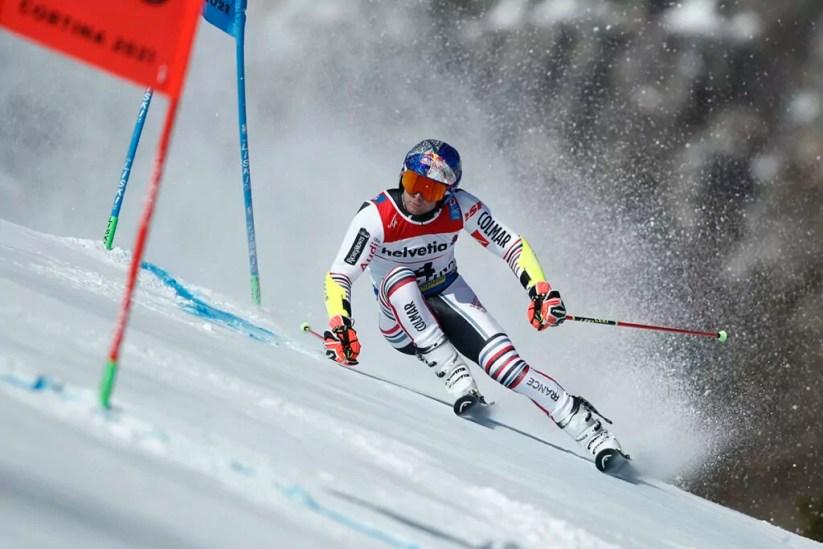 Cortina 2021 Campionati mondiali di Sci alpino. Cortina d'Ampezzo 19/02/2021, Slalom gigante maschile - Alexis Pinturault (Francia) Photo: Pentaphoto Gabriele Facciotti.