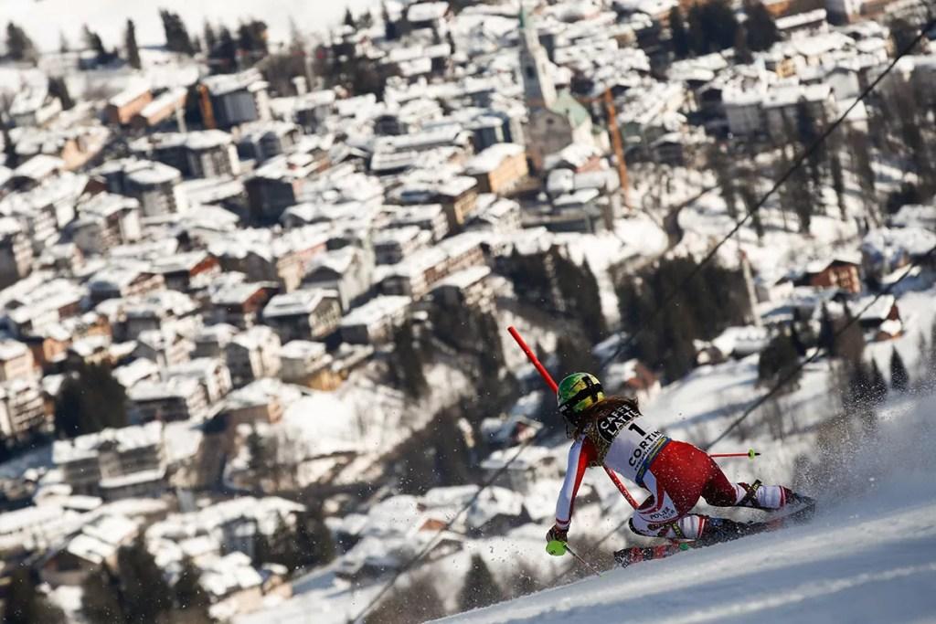 Cortina 2021 Campionati mondiali di Sci alpino. Cortina d'Ampezzo 20/02/2021, Katarina Liensberger (Austria),<br /> Photo: Gabriele Facciotti Pentaphoto.