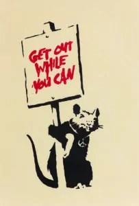 Get out while you can, 2004, serigrafia su carta_Collezione privata