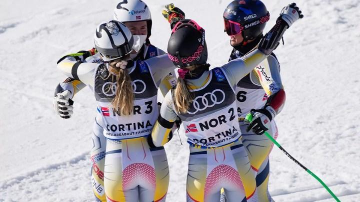 Cortina 2021 Campionati mondiali di sci alpino. Cortina d'Ampezzo 17/02/2021, Il team Norvegia, (Photo: Giovanni Auletta Pentaphoto).