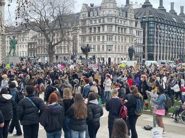 Londra, la protesta