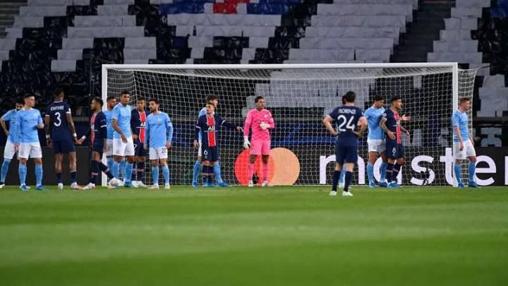 PSG-Man City, vince la squadra di Guardiola 2 a 1. A segno Marquinhos per i francesi, poi De Bruyne e Mahrez ribaltano. PSG chiamato all'impresa in Inghilterra. (credit PSG Official Website Photos)