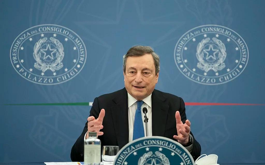 Draghi conferenza stampa governo