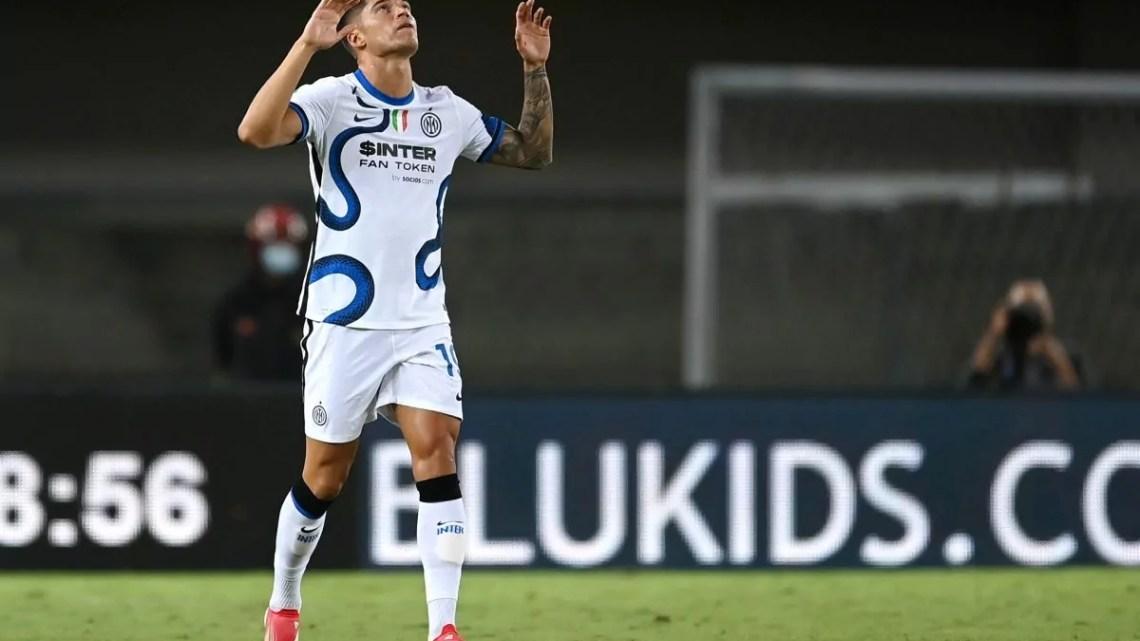 Verona-Inter: al Bentegodi, vanno in vantaggio i veneti, poi ci pensano gli argentini dell'Inter. Pareggia Lautaro, poi doppietta del nuovo arrivato Correa per l'1-3 finale.