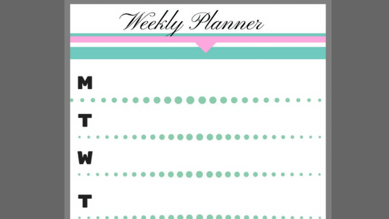 Free 3 page planner for busy moms!