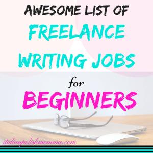 freelance jobs for beginners
