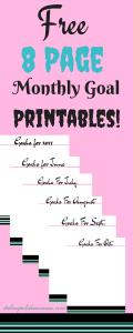 Free 8 Page Goal Printables