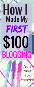 How I made my first $100 Blogging