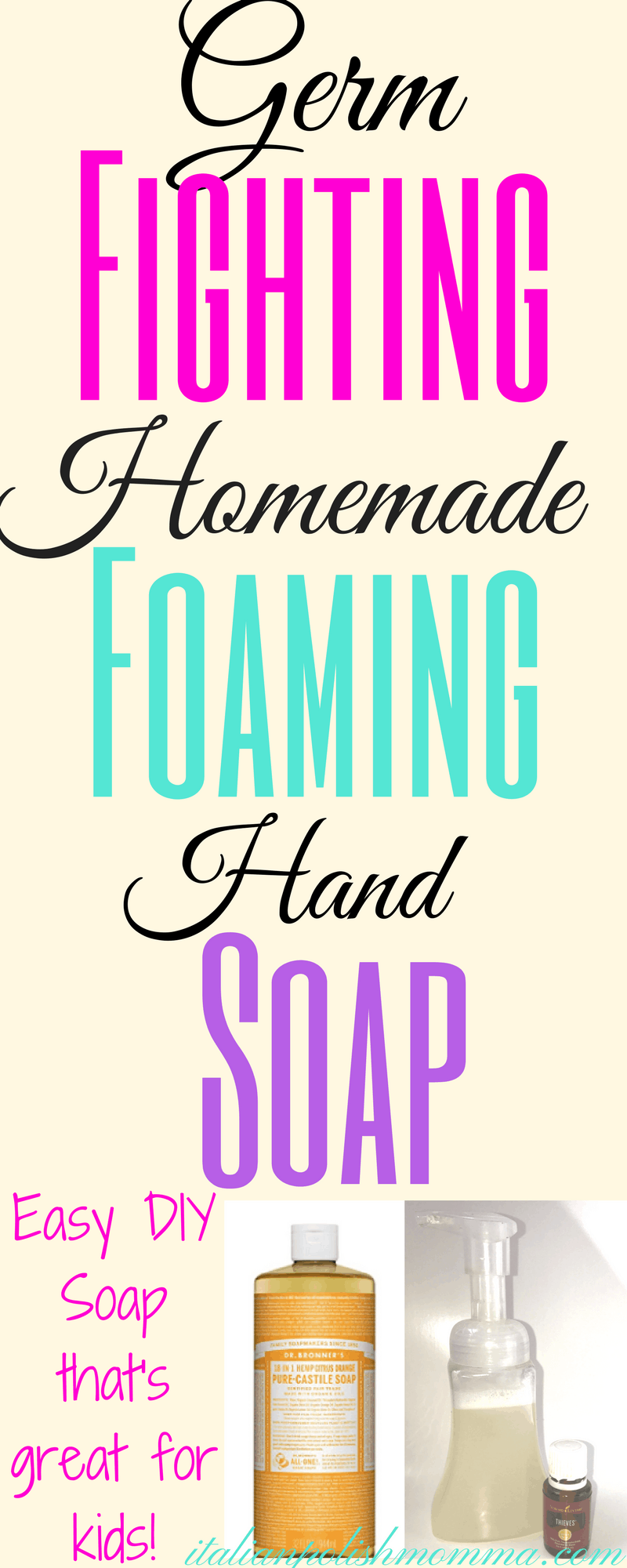 Germ-fighting foaming hand soap