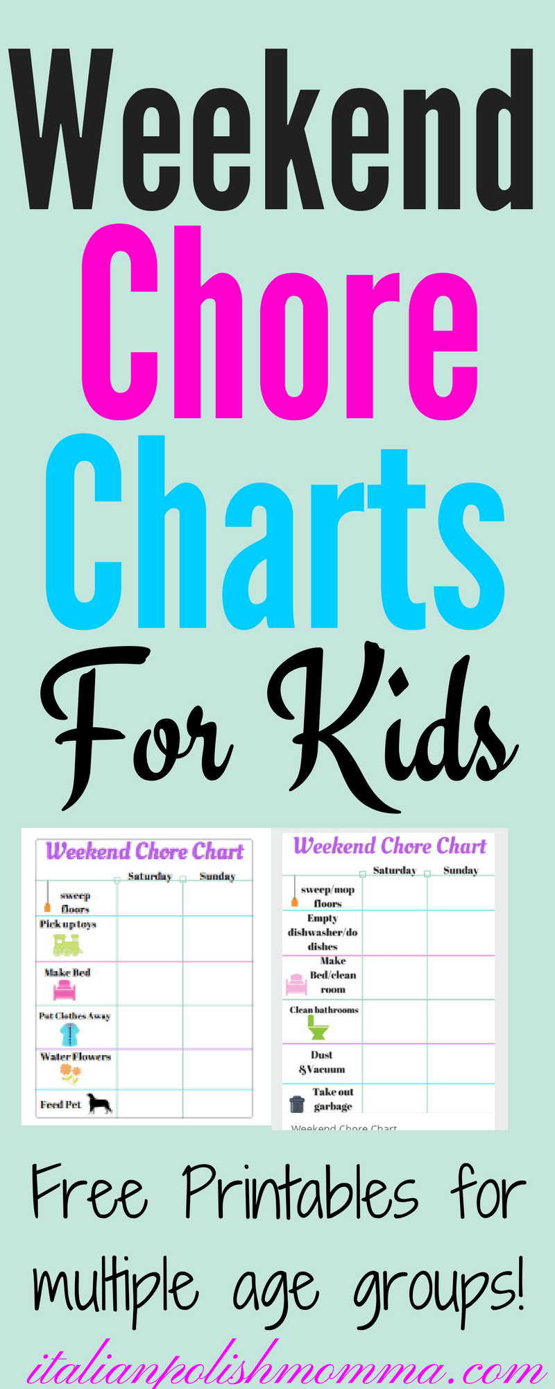 Weekend chore chart for kids italianpolishmomma chore charts for kids nvjuhfo Choice Image