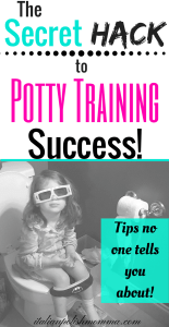 Potty training tips and hacks