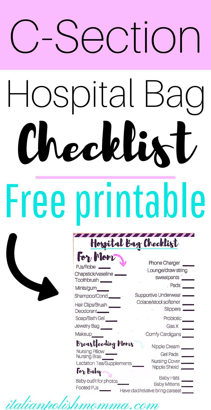 A Simple C Section Hospital Bag Checklist