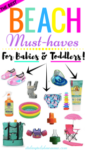 Beach must haves for baby
