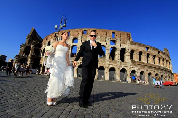wedding at Colosseo Rome