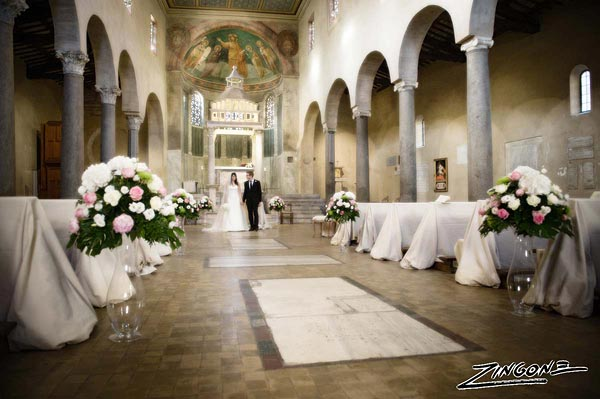 wedding to San Giorgio in Velabro Rome