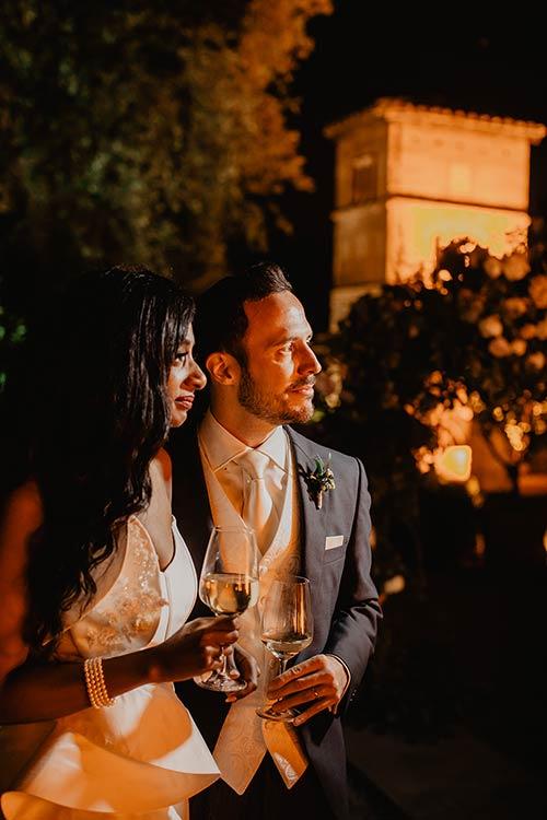 Wedding party at Villa Aurelia in Rome