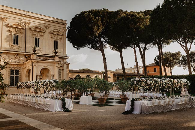 Wedding planner at Villa Aurelia in Rome