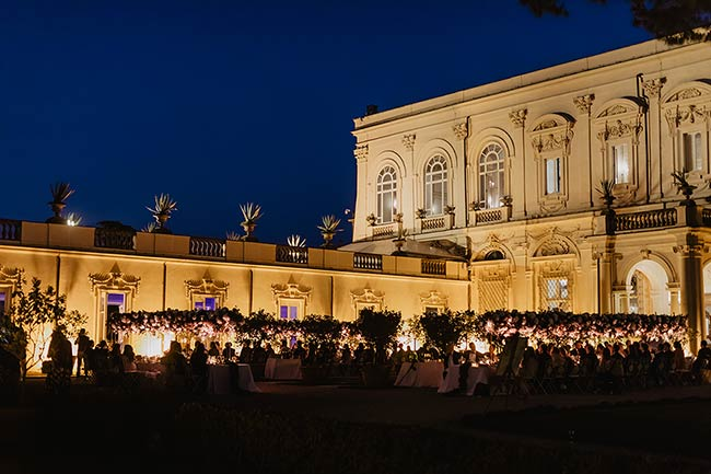 Wedding reception at Villa Aurelia in Rome