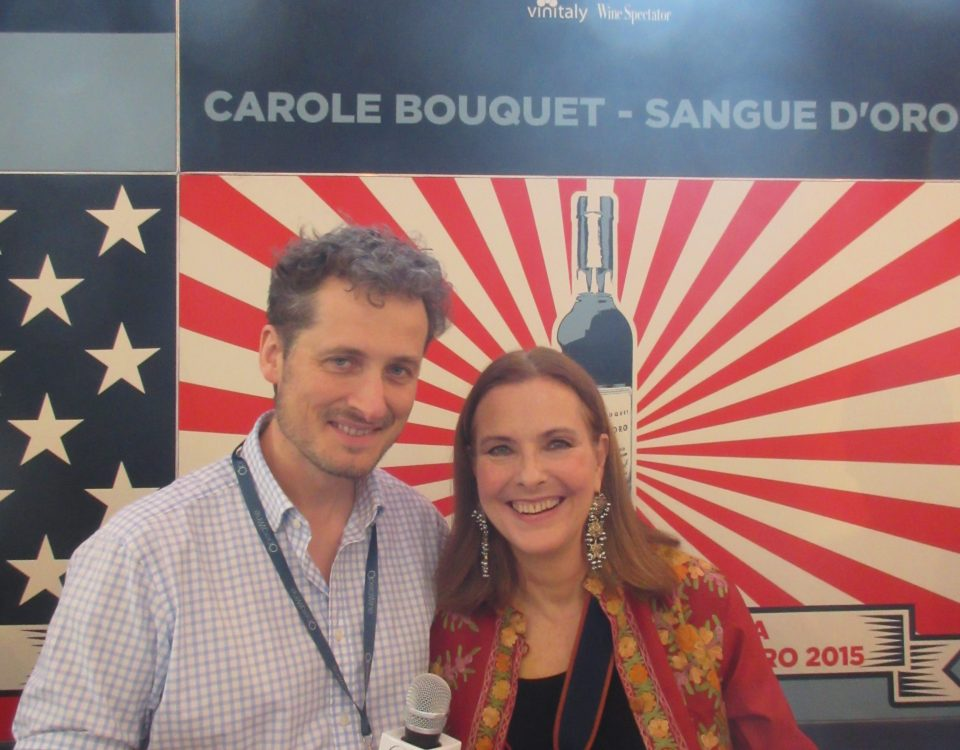 Carole Bouquet Sangue d'Oro Winery