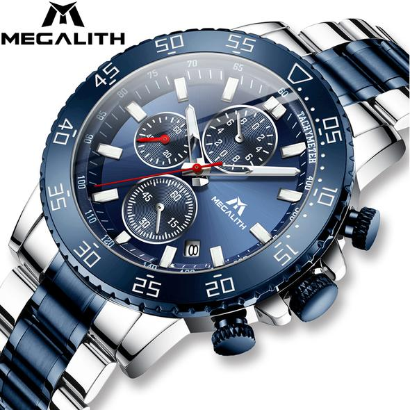 MEGALITH Watches for Mens ⌚ Waterproof Analogue Clock Stainless  👉OFFERT IN DESCRIPTION