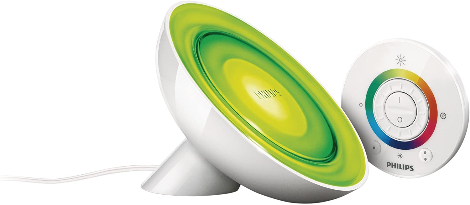 💡 Philips Lighting Living Colors Bloom Lampada da Tavolo LED, 8 W, Bianco [Classe di efficienza energetica A]