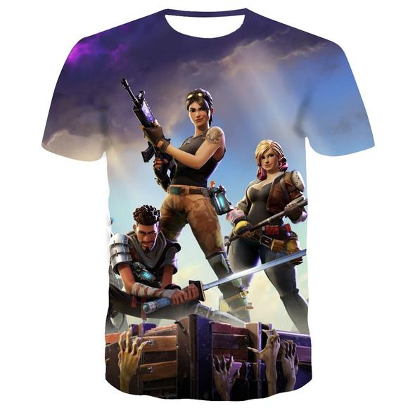 Fortnite videogame T-Shirt 👕 Battle Royale | Gaming 3D | Dress as a player 🎮