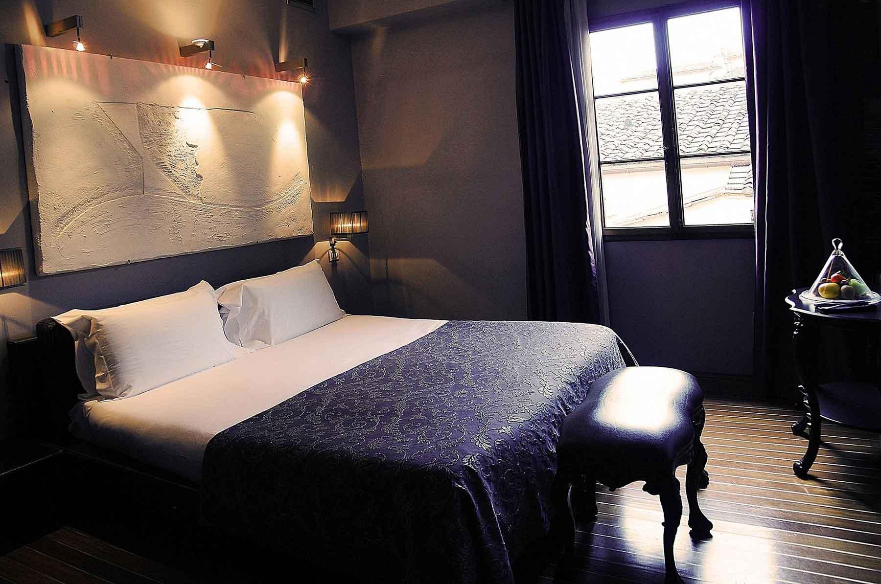 Une chambre du Borghese Palace Art Hotel Florence centre historique