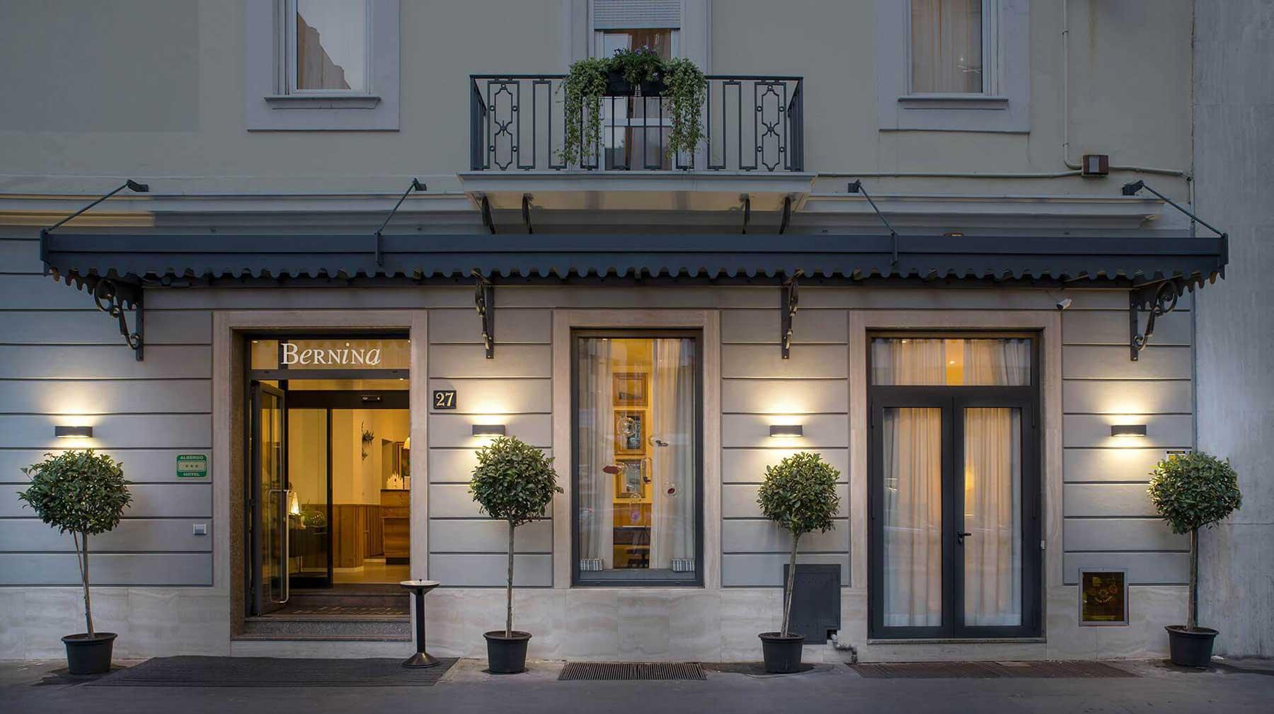 Hotel Bernina Milan, Italie : Façade de l'hotel