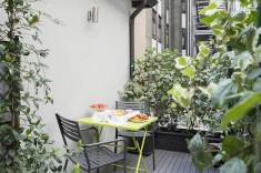 Hotel Bernina Milan, Italie : Terrasse chambre supérieure