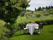Hotel Le Fontanelle, Pianella - Sienne (Petit déjeuner dans le jardin)