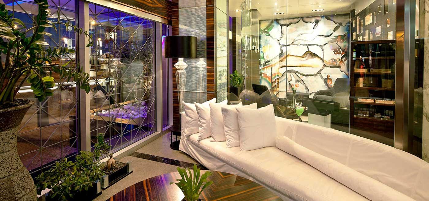 Romeo Hotel 5 étoiles luxe Naples Italie (salon)