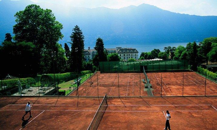 Villa d'Este hotel de luxe face au lac de Côme en Italie : tennis