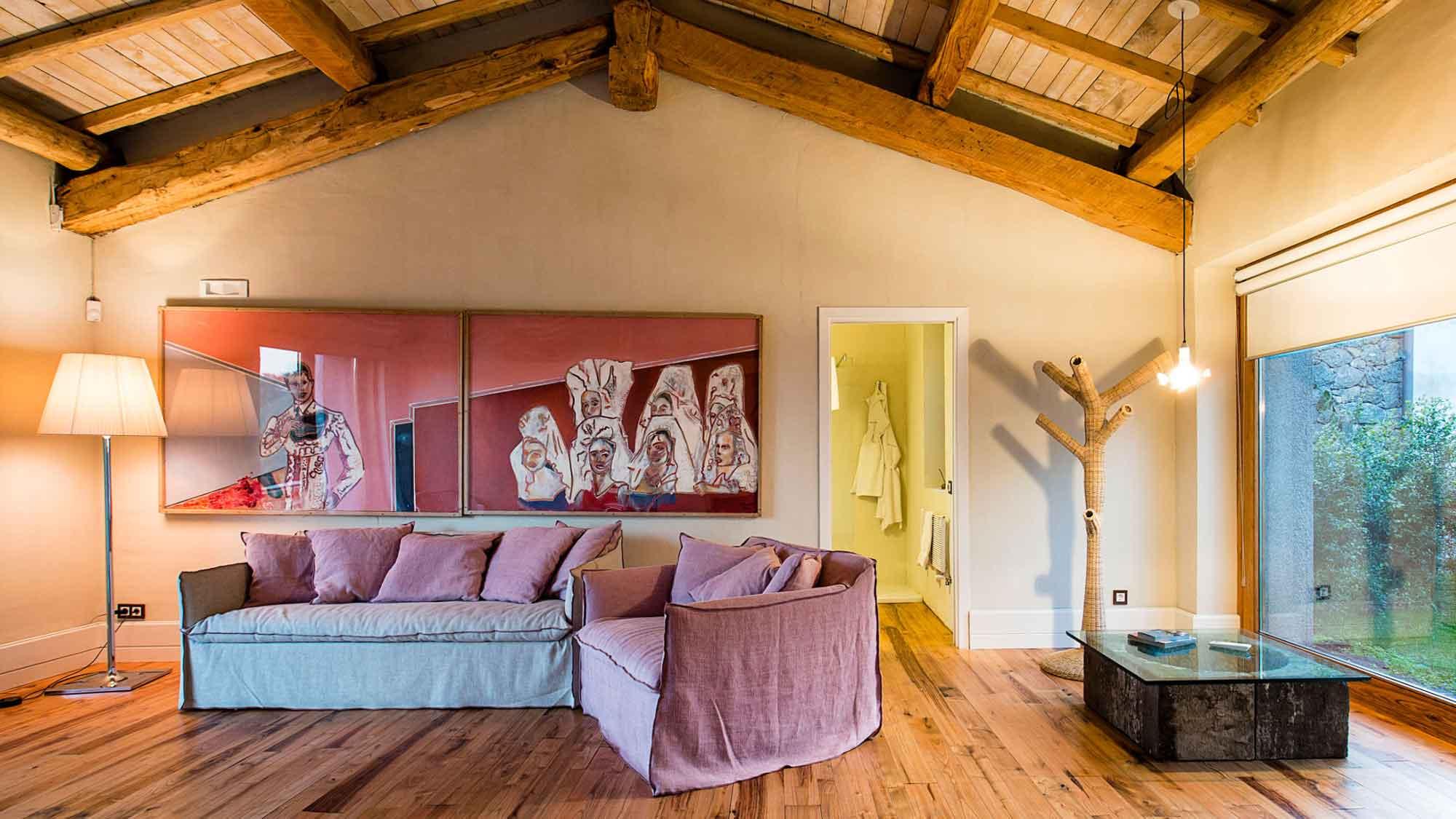 Hotel Monaci delle Terre Nere (Sicile) : Suite dependance royal, le salon