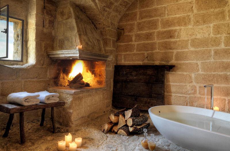 Grotta 13 Chambre Executive Suite (espace salle de bain avec cheminée)