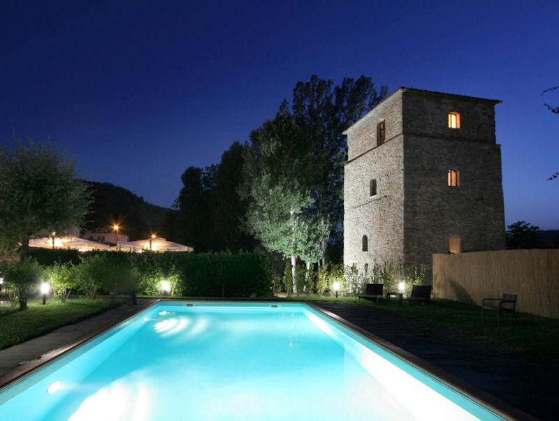 Torre Santa Flora, hotel de charme en Toscane (Arezzo, Subbiano) : Piscine