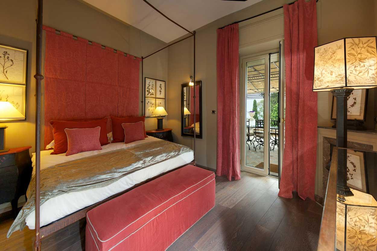 Une chambre de l'hôtel Villa Carlotta - Taormina en Sicile (Italie)