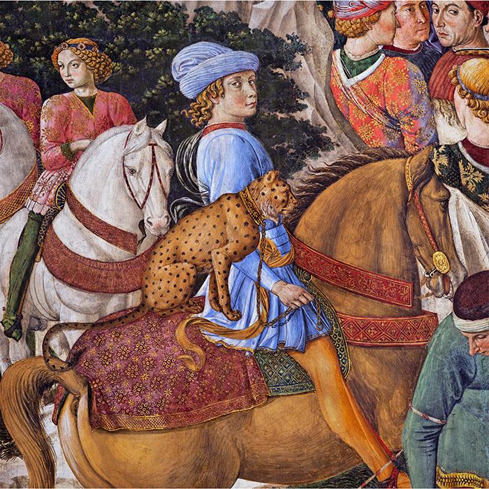 Benozzo Gozzoli, Optocht van de drie Koningen, Palazzo Medici-Riccardi in Florence