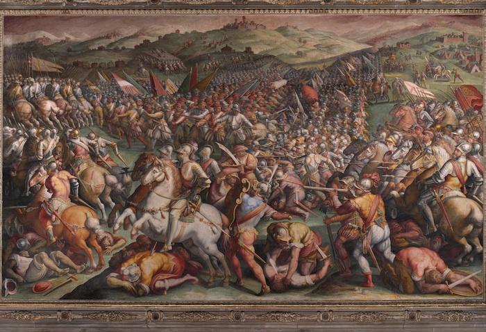 Vasari's fresco in het Palazzo Vecchio