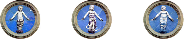 Andrea della Robbia - Glazed terra-cotta reliefs of swaddled babies