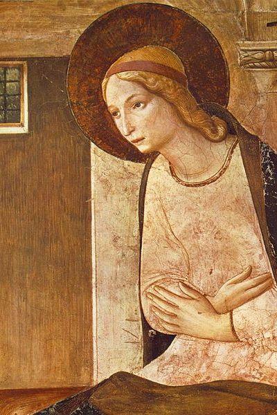 Fra Angelico's Annunciatie (detail