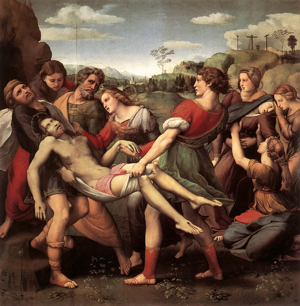 Rafael, De Graflegging van Christus, 1507, Galleria Borghese, Rome