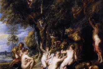 Peter Paul Rubens, Nimfen en Saters, Museo del Prado Madrid