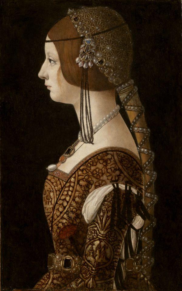 Ambrogio de Predis, Bianca Maria Sforza, rond1493,National Gallery of Art, Washington DC