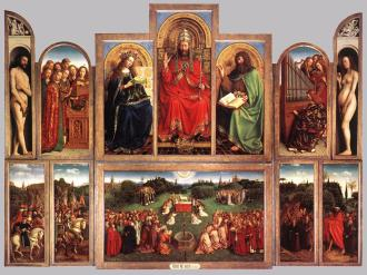 Gentse altaarstuk -Het Lam Gods -, gebroeders Van Eyck