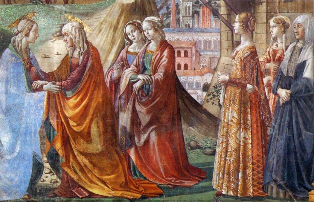 Ghirlandaio, Giovanna Tornabuoni, Santa Maria Novella Florence, Italië