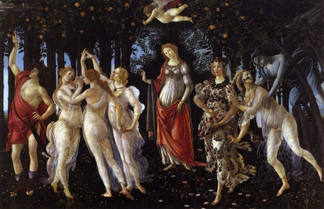 La Primavera, Sandro Botticelli, Uffizi Florence, Italië